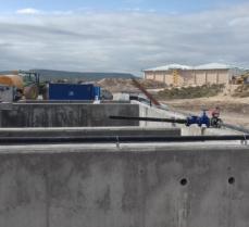 Depuradoras en ejecución en Campos de Borja - Zaragoza