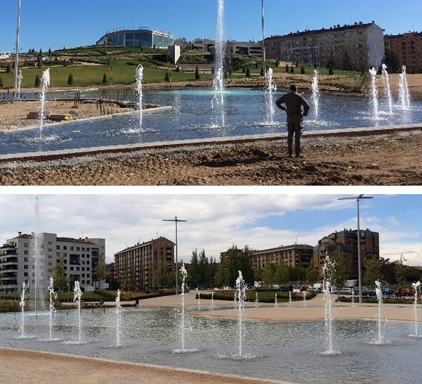 Fuente transitable Parque Felipe VI - Logroño