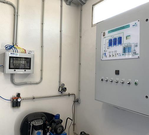 Estación de tratamiento de agua potable E.T.A.P. mediante filtración en lecho mixto y cloración